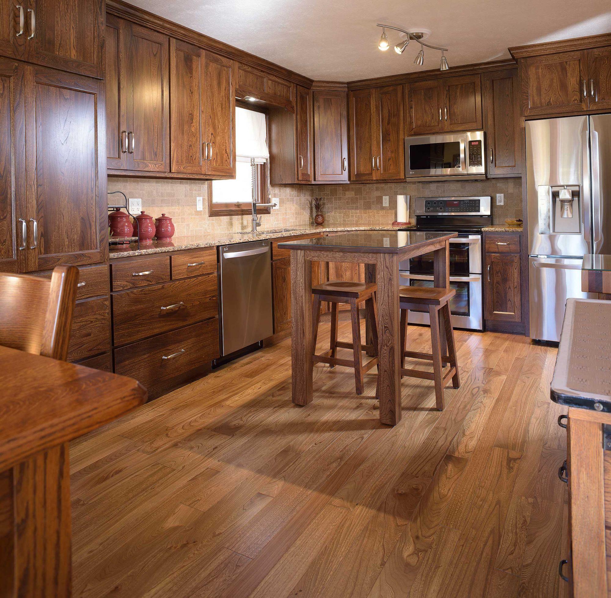 On Grey Elm Custom Hardwood Flooring Installation By Mhp Flooring