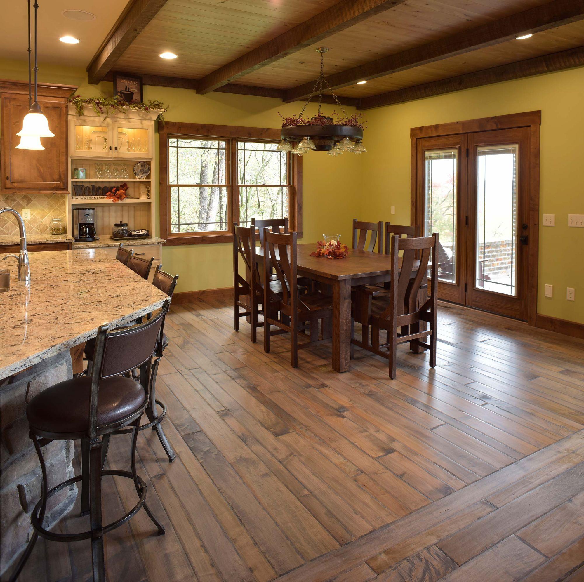 Click Wood Flooring Installation: Glacier On Hard Brown Maple Custom Hardwood Flooring