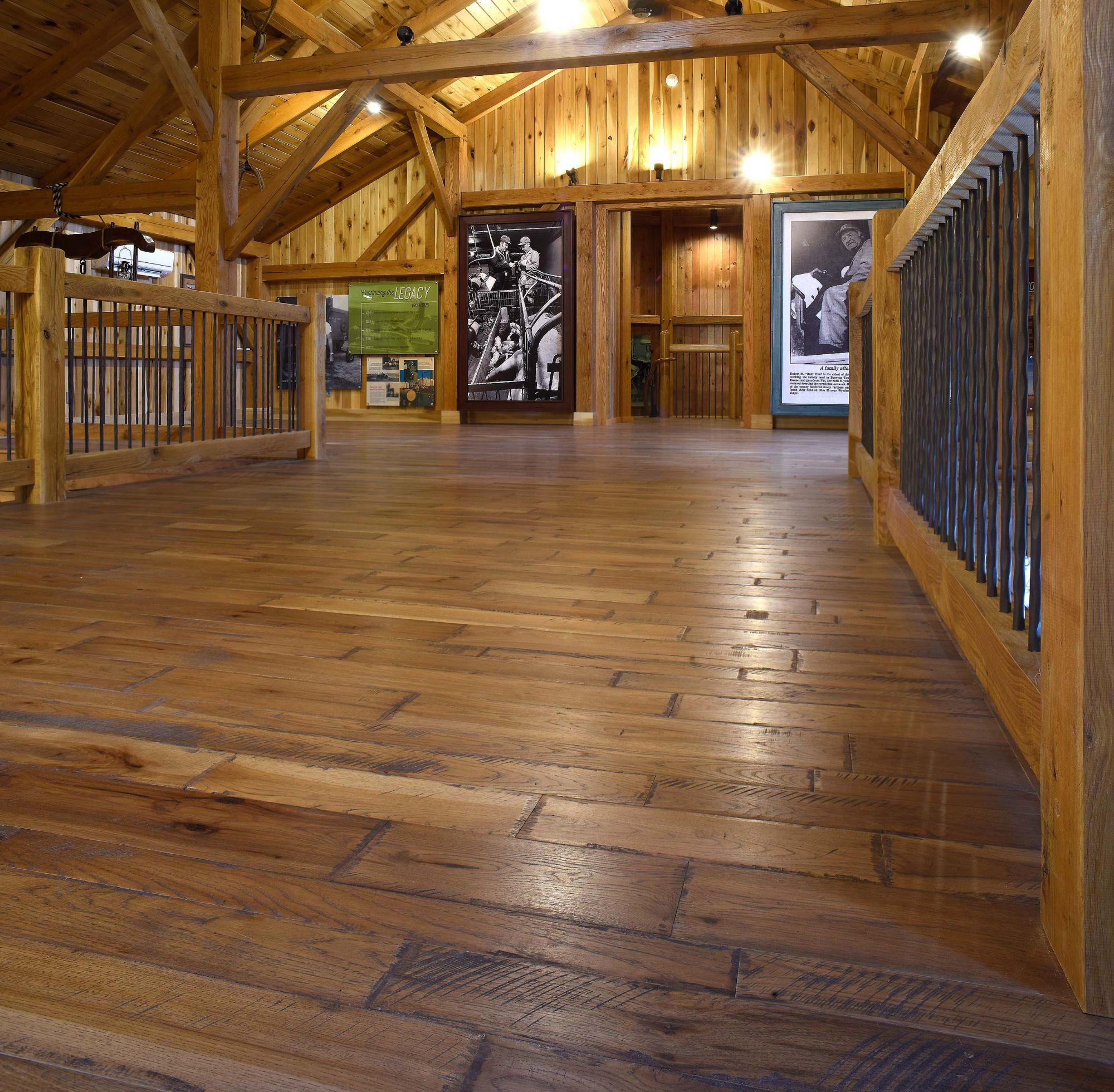 Click Wood Flooring Installation: Medium On Hickory Custom Hardwood Flooring Installation By