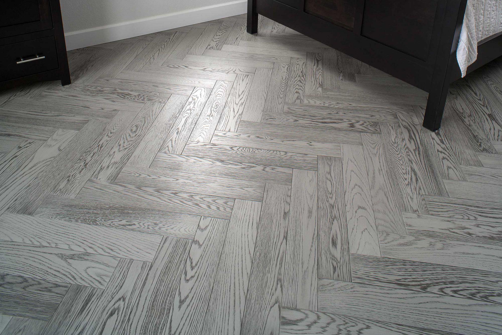 On White Oak Custom Hardwood Flooring